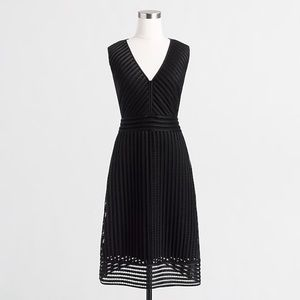 NWT J.Crew Black Eyelet Dress